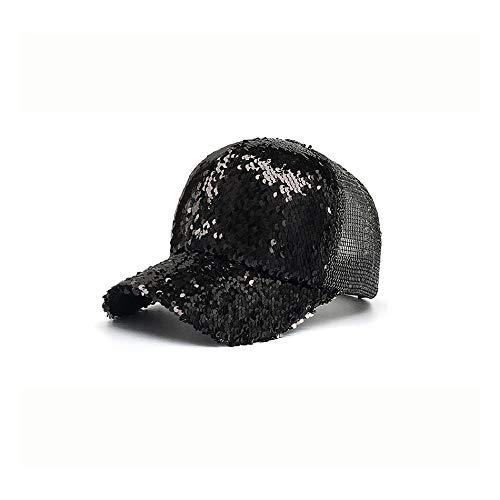 Erwachsene Black Sequin Fedora Hut - Gezeiten-vorbildliche Sequin-Ineinander greifen-Sonnenschutz-im Freien Sun-Baseballmütze Frau