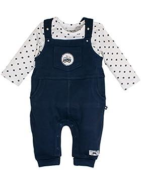 SALT AND PEPPER Baby-Jungen Strampler Nb Dungarees Ready Uni
