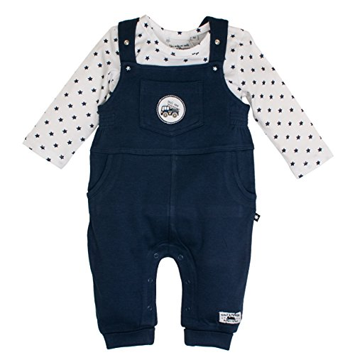 SALT AND PEPPER Baby-Jungen Strampler NB Dungarees Ready Uni, Blau (Navy 460), 68