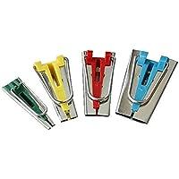 Tinksky Eine Reihe von 4 Größen Stoff Bias Tape Maker Bindung Werkzeuge nähen Quilten 6mm 12mm 18mm 25mm