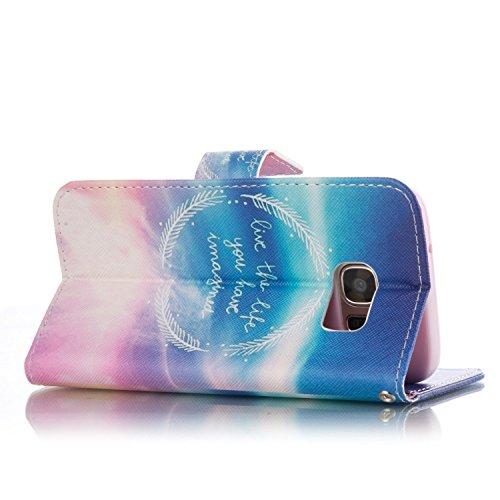 SainCat Cover iPhone 5 / 5s / SE,Fashion Design Dipinto Stand Intelligente Pelle PU Flip Stare Supporto Cover Case Caso,Elegante Pieghevole Capovolgere Leather Copertinat Caso Con Porta Carte Di Credi Grano Anello