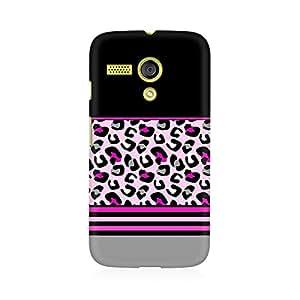 TAZindia Pink Cheetah Fusion Premium Printed Case For Motorola Moto G
