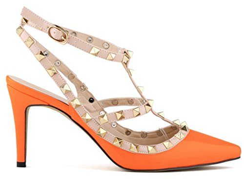 Fangsto  Heeled-sandals, Damen Pumps Orange orange