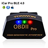TONWON OBD2 Scanner OBDII Bluetooth Scan Tool Car Fault Code Reader for iOS
