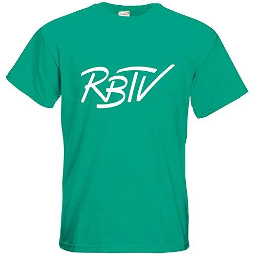 getshirts - Rocket Beans TV Official Merchandising - T-Shirt - RBTV kursiv Pacific Green