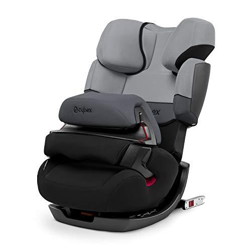 CYBEX Silver 2-in-1 Kinder-Autositz Pallas-Fix, Für Autos mit und ohne ISOFIX, Gruppe 1/2/3 (9-36 kg), Ab ca. 9 Monate bis ca. 12 Jahre, Cobblestone
