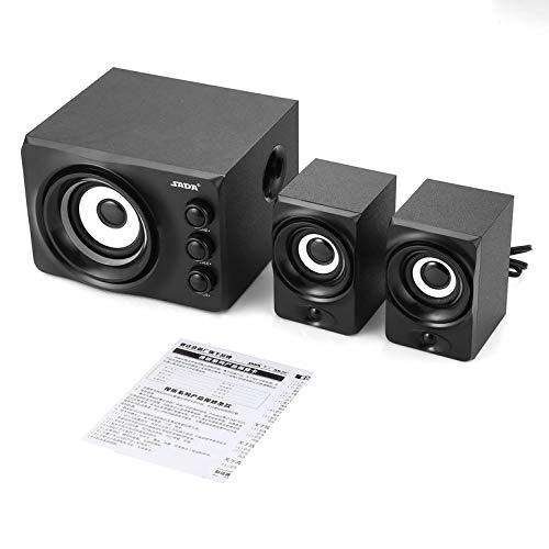 SADA Q2 Wired 3-Kanal-Stereo-Computer Kombinations-Lautsprecher mit bunter LED-Elektronik