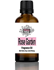 10ml Fragrance Oil - Candle, Bath bomb, Soap, Bath Salts, cosmetic Making fragrant Scent ( 36. Rose Garden )