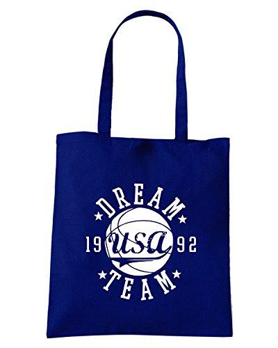 T-Shirtshock - Borsa Shopping FUN0187 07 26 2012 Dream Team 92 T SHIRT det Blu Navy