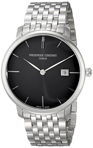 Frederique Constant Slim Line FC306G4S6B2 40mm Automatic Silver Steel Bracelet & Case Anti-Reflective Sapphire Men's Watch