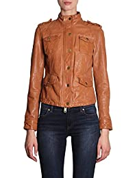 Michael By Michael Kors Giacca Outerwear Donna MH82HYDACH286 Pelle Marrone 218e716d387