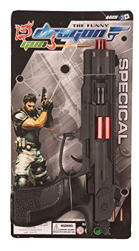 Karneval-Klamotten Pistole Soldat mit Lärm Soldaten-Pistole Spielzeug-Waffe passend zum Soldaten-Kostüm (Spielzeug, Damen Kostüm Soldat)