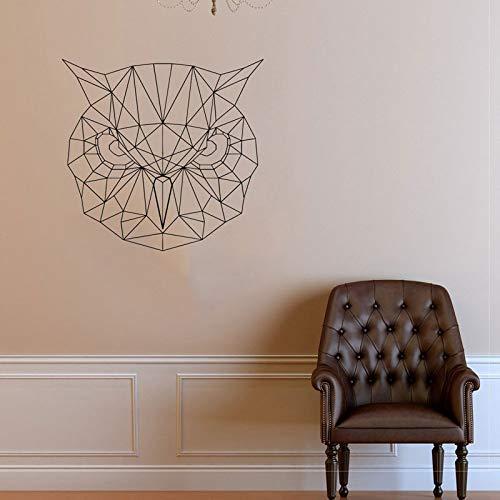 guijiumai Geometrische Eule Wall Decal Wall Art Eule Vinyl Aufkleber Geometrie Modern Scandi Style Tapete Origami Wall Art schwarz M 44X42cm