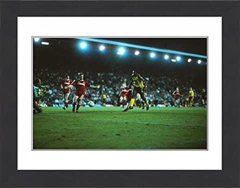 Framed Print of Michael Thomas scores his title-winning goal at Anfield in 1989