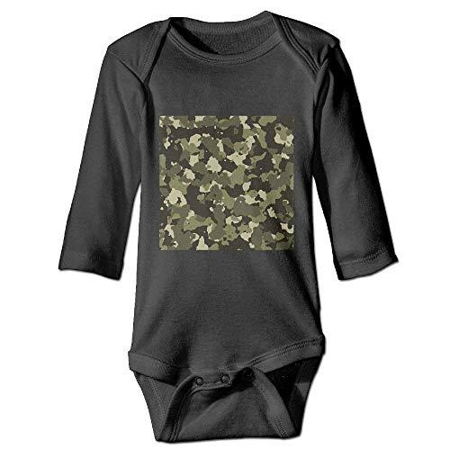 Monicago Neugeborenes Baby-Jungen-Mädchen-Bodysuit-Lange Hülse, Camouflage Camo Baby Joys Outfits Long-Sleeve Bodysuits