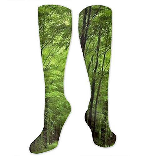 a715f6dc3 Deep in The Forest Thick Green Vegetation Tree Nature Mouse Pad Mat Knee  High Graduated