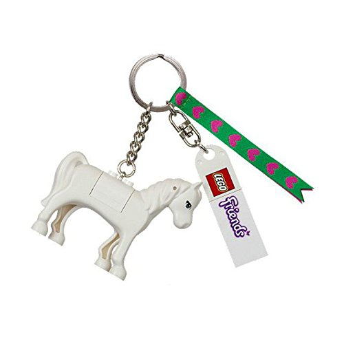 Anhänger Pferd, Schimmel / Pferdeanhänger für Tasche oder Rucksack (Lego Friends Köpfe)