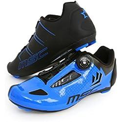 MSC Bikes Aero Road Zapatillas, Unisex Adulto, Azul, 44
