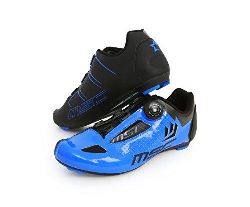 MSC Bikes Aero Road Zapatillas, Unisex Adulto, Azul, 46