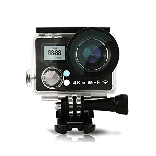 Action Camera Wifi Waterproof Camera 4K Ultra HD Cam with 2.4G Remote Control UnderWater 30M/98ft 2.0 inches LCD Screen and 170 Degree Wide Angle Lens (Black)