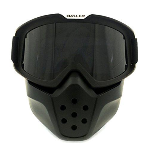 Lommer Maske Airsoft, Abnehmbar Schutzmaske Gesichtsmaske Schutzbrille Taktische Maske Brille Staubschutz Brille für Nerf, Paintball, CS Spiel und Fahrrad Dirtbike Motocross Motorrad (Dunkelgrün)