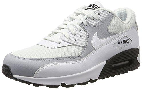 Nike Damen Air Max 90 Gymnastikschuhe, Weiß (White/White-Wolf Gre-Black), 42.5 EU (90 Herren-nike Air)