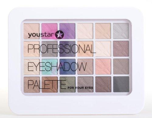 youstar Professional Eyeshadow Palette/Kosmetikkassette Make up Kit 24 Farben