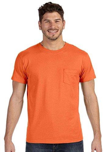 Hanes Herren Asymmetrischer T-Shirt Orange (Vintage Orange)
