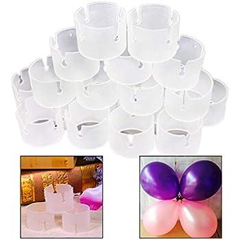 20pcs Fleur Ballon Clip Boucle en plastique Ballon Support Arc Anneau Conne 10