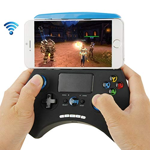 Kaneed Gamepad PG-9028 Multi-Media Bluetooth Touch Gamepad, für iPhone/iPad/iPod/Samsung/HTC/Moto/Android TV Box/Android TV/PC (schwarz)