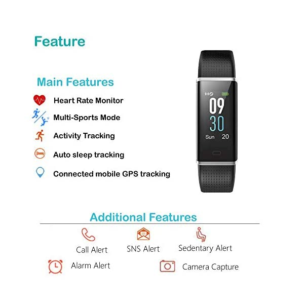 Willful Pulsera Actividad Impermeable IP68,Color Screen con 14 Modos de Deporte,Pulsera Inteligente con Pulsómetro… 3