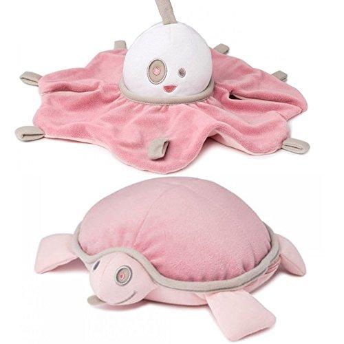 Turtle Maskottchen (doomoo spooky & snoogy // Nachtlicht mit Geräuschsensor inkl. USB-Kabel // Leinsamen & Lavendel Wärme)