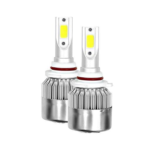 Qiyun Lichter Auto, Lampen Auto, Gegenstände für Auto, 1Paar 9006C6Kit Faro A LED 3800lm/Glühbirne 6000K Leuchtmittel Nebelscheinwerfer Low Kabelbaum HID Weiß