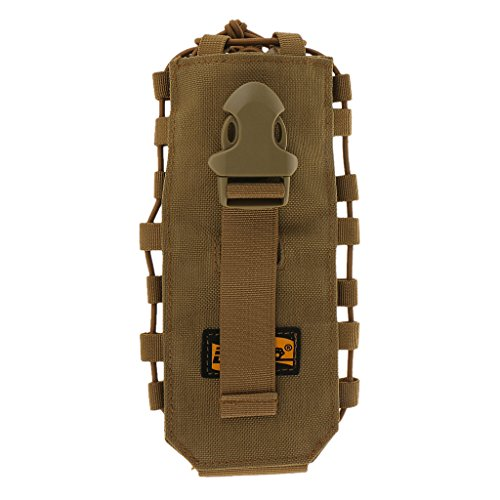 Porte Bouteille d'eau Tactique 1050D MOLLE Poche Sac Couverture 0.5l-2l Kaki