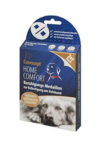 Canosept Home Comfort Medaillons – Beruhigungsmedaillons fördern Wohlbefinden und Entspannung bei Hunden – Einfache Befestigung als Anhänger am Hundehalsband – 2er Pack