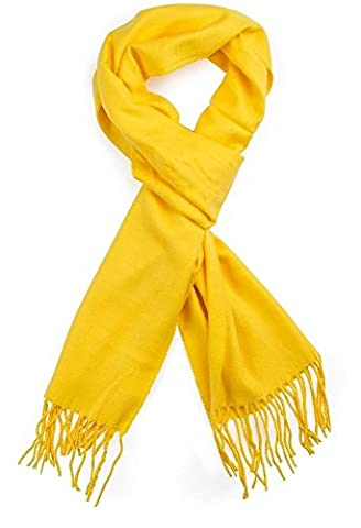 Spring Fever Men's Super Soft Luxurious Cashmere Feel Winter Long Scarf(Yellow)