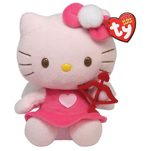 Hello Kitty - Pink dress Plush - TY Beanie - 15cm 6""