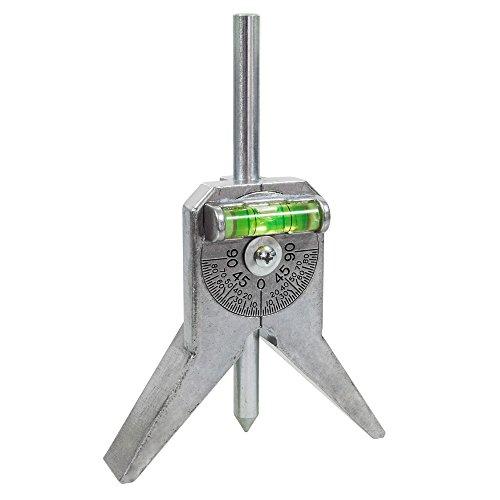WELDINGTOOL Rohr Zentrierkörner STANDARD mit Winkelmesserlibelle und gehärteten Körner für Rohre von Ø 0,5-4 Zoll