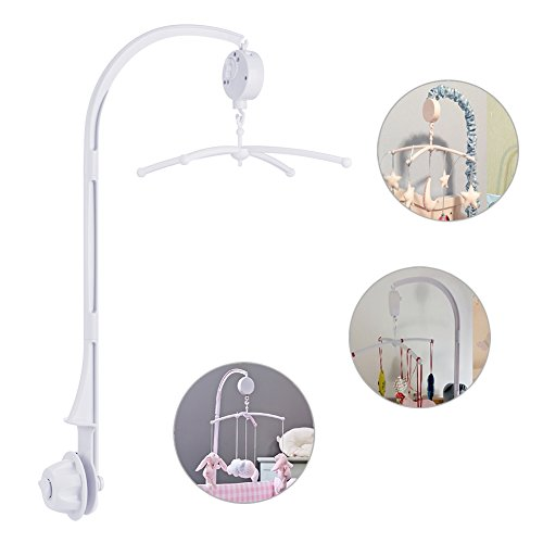 Boonor Baby Spieluhr Musikmobile Baby Krippe Mobile Bett Glocke mit Halter Arm Halterunund für Babybett und Kinderbett