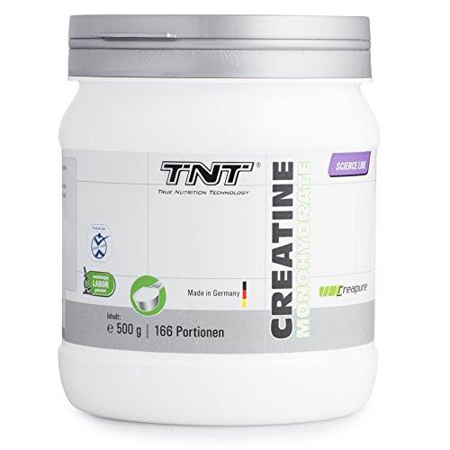 #Hochwertiges Creatin Monohydrat Pulver für Muskelaufbau | Kreatin-Pulver zur Unterstützung im Kraftsport & Bodybuilding | Nahrungsergänzung – Vegan, Geschmacksneutral | TNT Creapure ® – 500g Pulver#