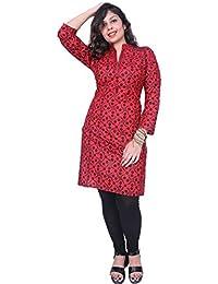 Kurtis For Women Thari Choice Women Multi Coloured 3/4 Sleeve Cotton Printed Kurti For Women And Girls