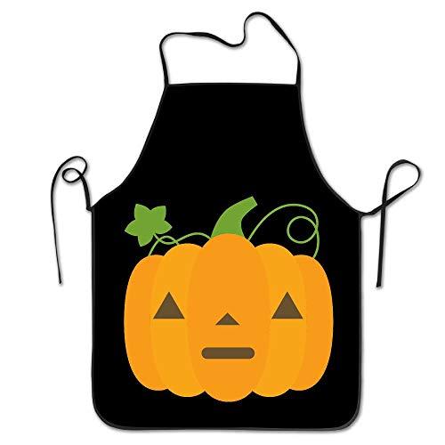 Yangguanggs Halloween Pumpkin Emoji Lock Edge Waterproof Durable Adjustable 2017 Cooking Apron Kitchen Apron for Women Men Chef