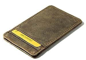 Herte Genuine Leather atm Credit card holder slip case gift