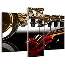 Cuadro sobre lienzo - 3 piezas - Impresión en lienzo - Ancho: 95cm, Altura: 80cm - Foto número 2679 - listo para colgar - en un marco - CB95x80-2679