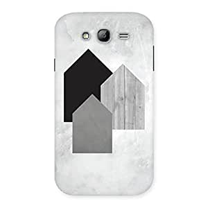 Delighted Black Grey White Back Case Cover for Galaxy Grand Neo