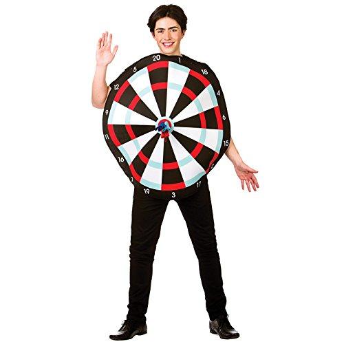 Dart Board Adult Costume Stag Target Fancy Dress (Dart Kostüme)