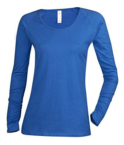 bc-ladies-plain-long-sleeve-t-shirt-shirt-top-scoop-neck-100-cotton-size-xs-xl