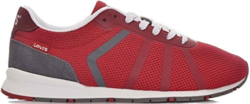 Levi's Almayer Lite Red Grey White Mens Trainers