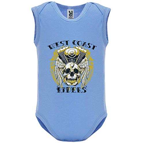 Body bébé - Manche sans - West Coast Riders - Bébé Garçon - Bleu - 9MOIS
