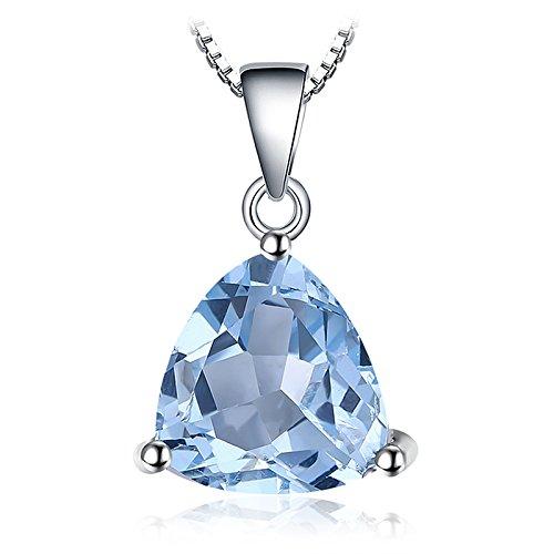 Blauer Schmuck Topas (JewelryPalace Trillion 2.4ct natürlicher Himmel blauer Topaz Birthstone reiner 925 Sterling Silber Solitär Anhänger)